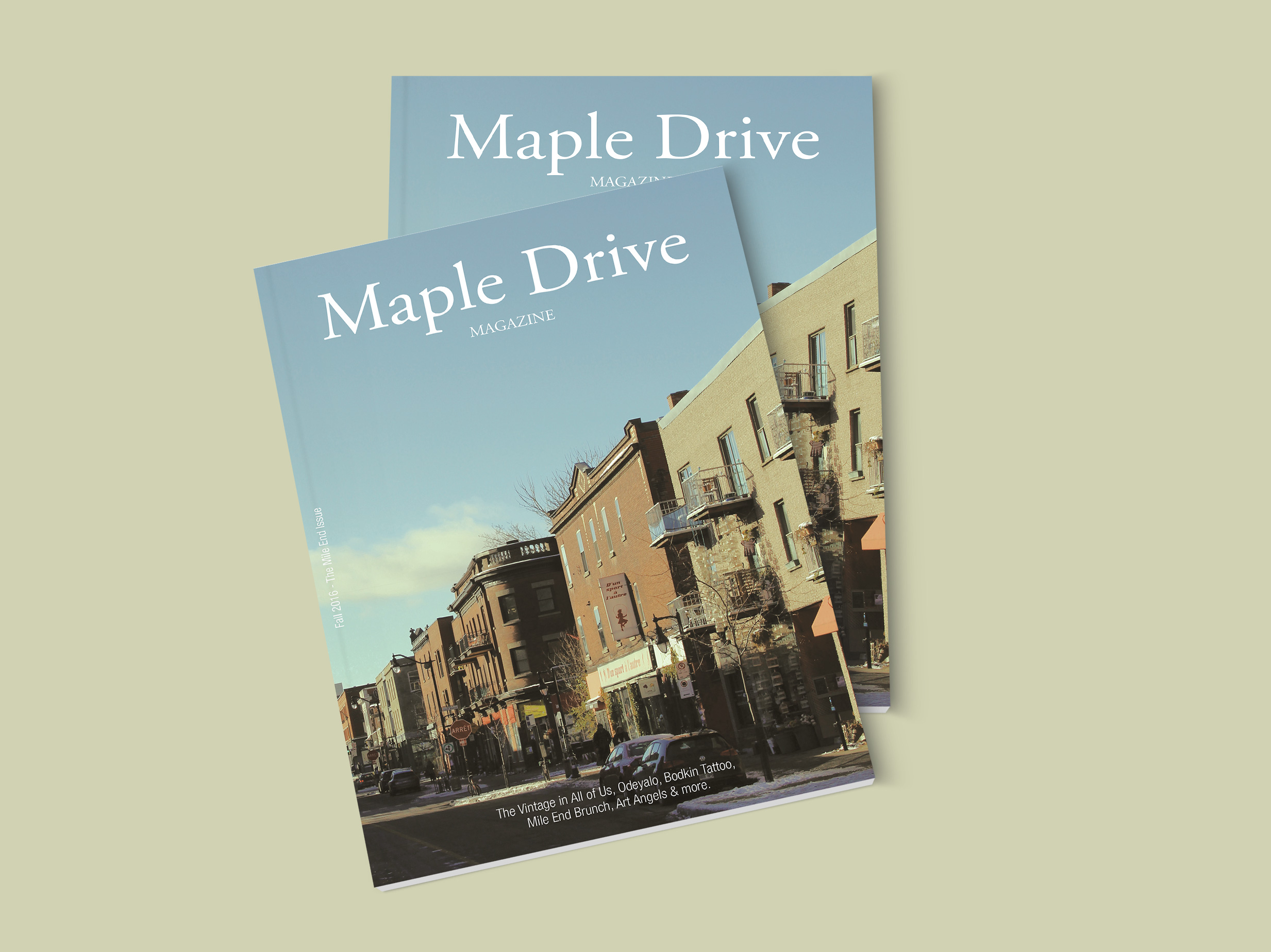 Maple Drive Magazine - Cover
