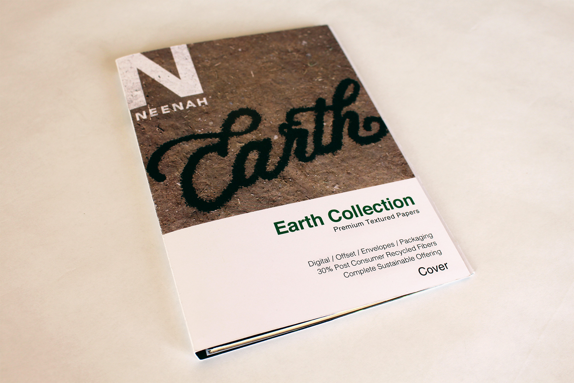 Earth Collection - Paper samples booklet cover