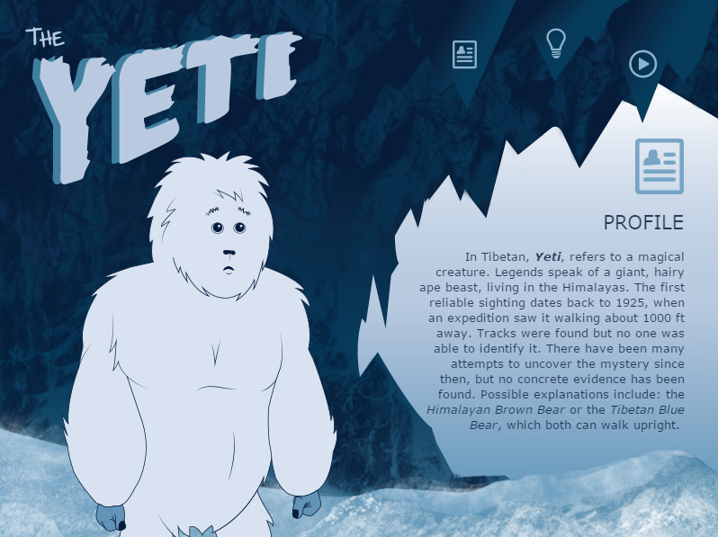 The Yeti - Interactive Web Presentation
